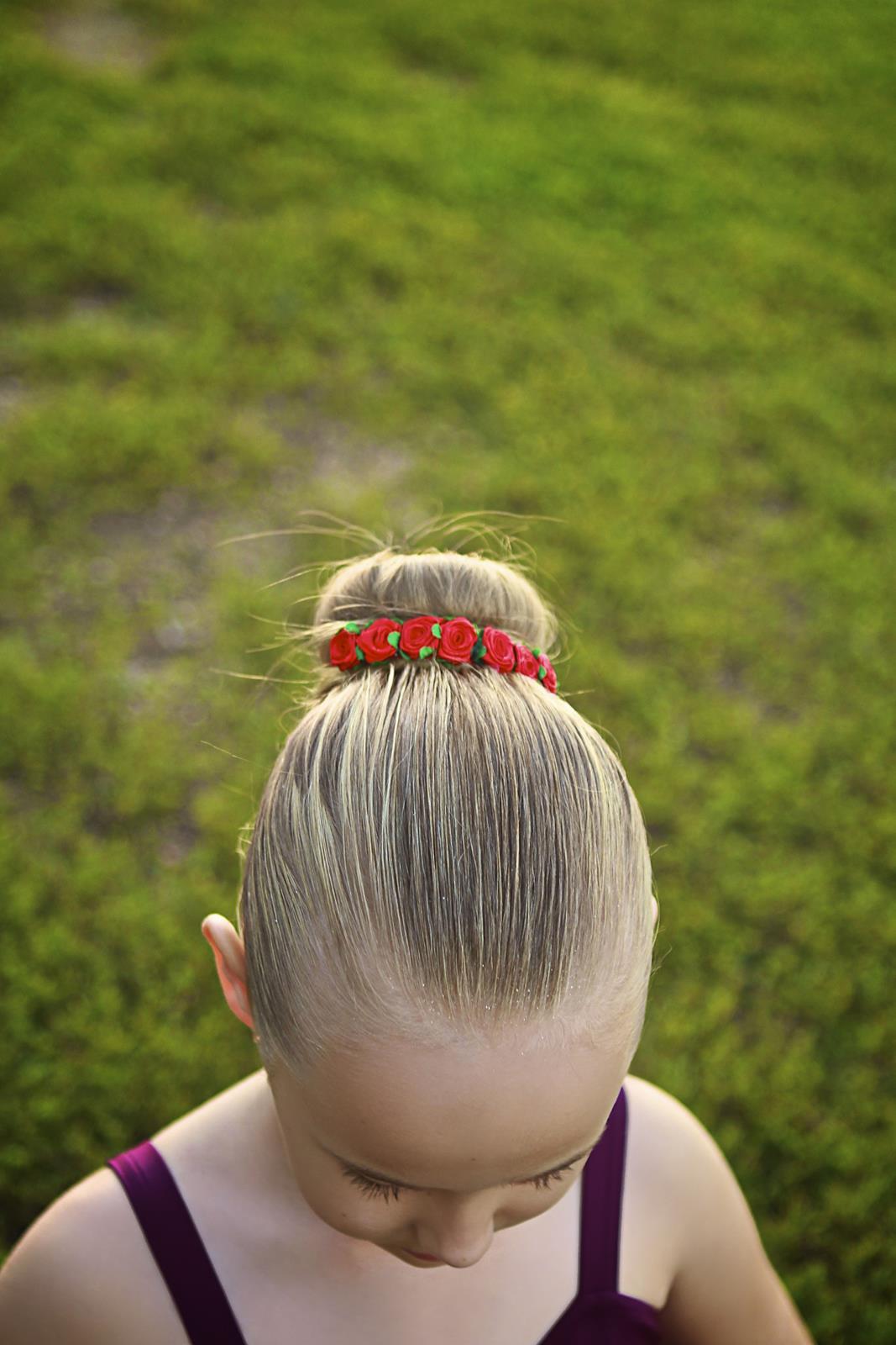 Carmen Bun Flower Crown Hair En Pointe