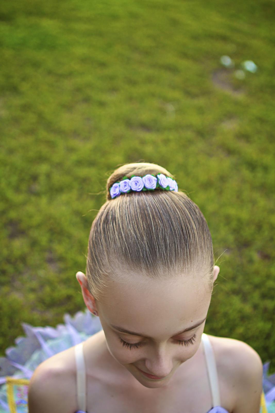 Lilac Fairy Bun Flower Crown Hair En Pointe