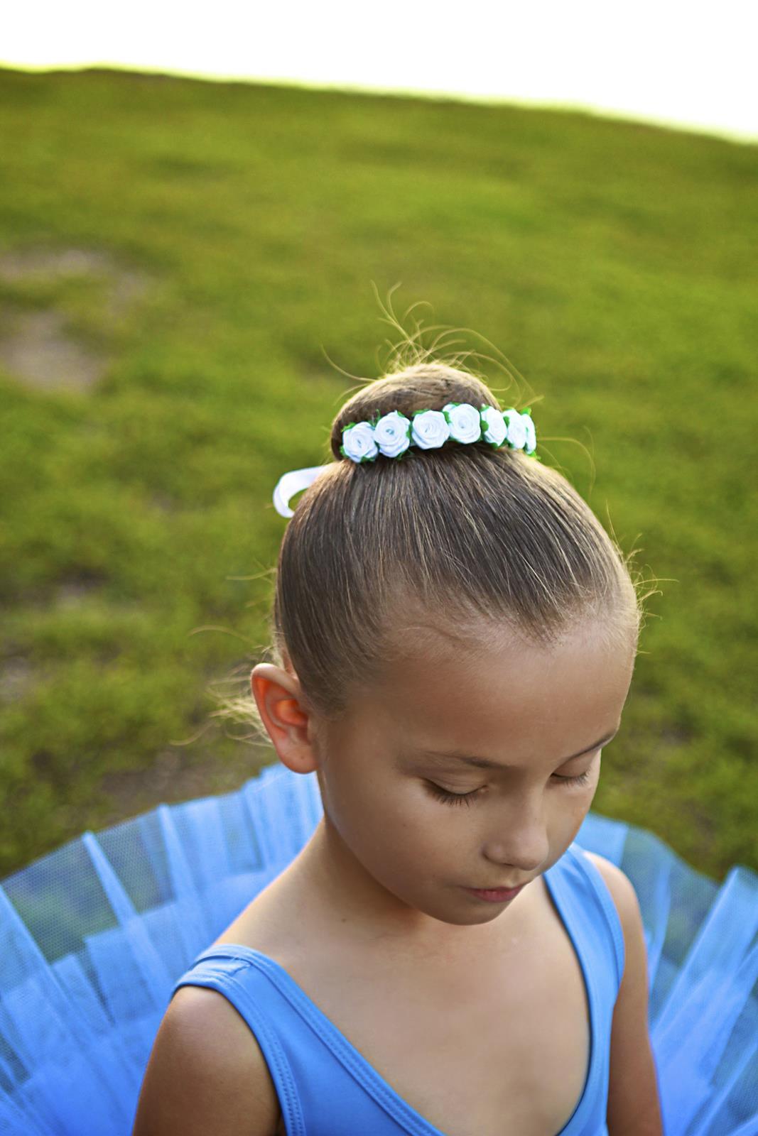 Odette Bun Flower Crown Hair En Pointe